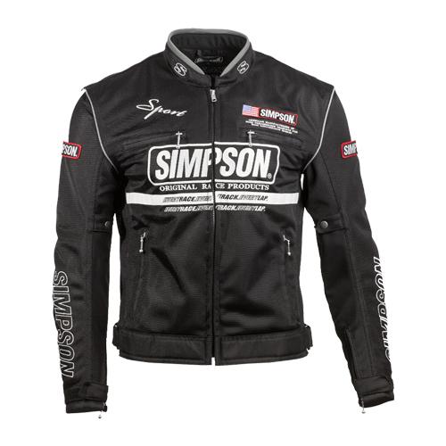 【SIMPSON・シンプソン】【2019春夏物】NSM-3 メッシュジャケット ブラック/ホワイト【送料無料!】(※一部地域を除く)