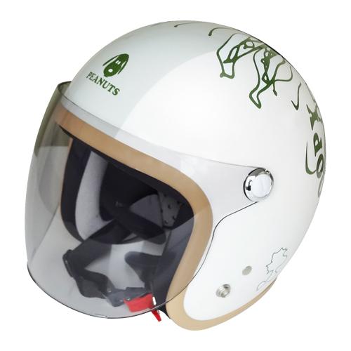 【SNOOPY・スヌーピー】SNJ-73 SNOOPY PEEK-A-BOO ジェットヘルメット(0135SNJ73)