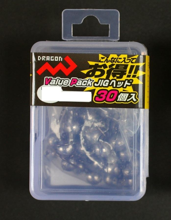 お徳用JIGヘッド ドラゴン バリューパック 大決算セール ジグヘッド 30個入 1.5g 世界の人気ブランド