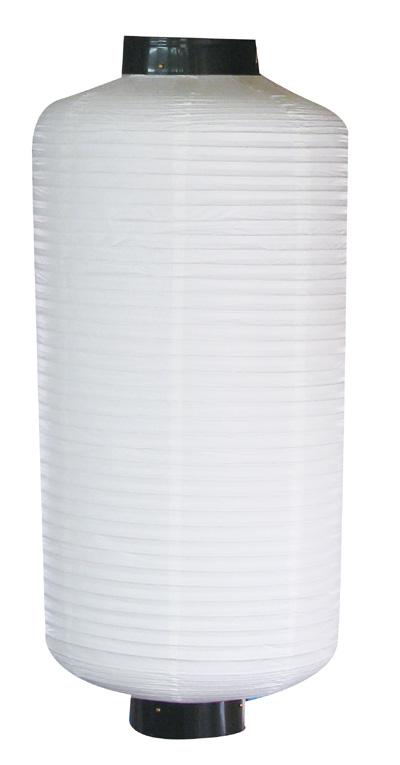 9054 長型大八無地白提灯 素材:ビニール製 サイズ:φ500mm×H1,200mm ※お取寄商品