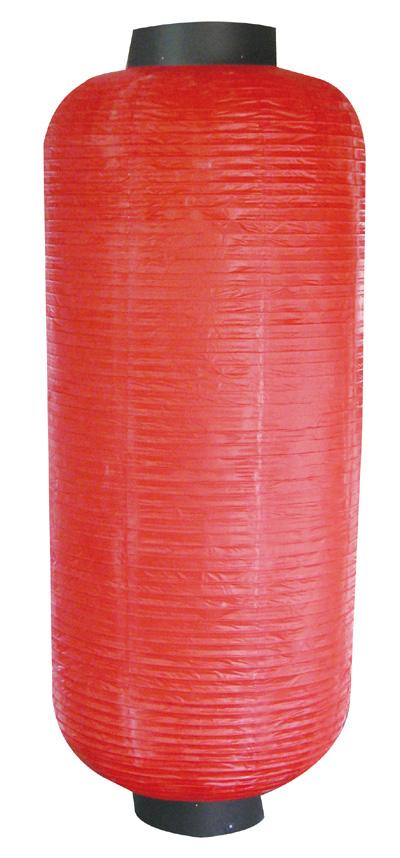 9055 長型博多長無地赤提灯 素材:ビニール製 サイズ:φ600mm×H1,560mm ※お取寄商品