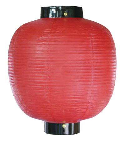 9059 丸型尺八丸無地赤提灯 素材:ビニール製 サイズ:φ550mm×H670mm ※お取寄商品