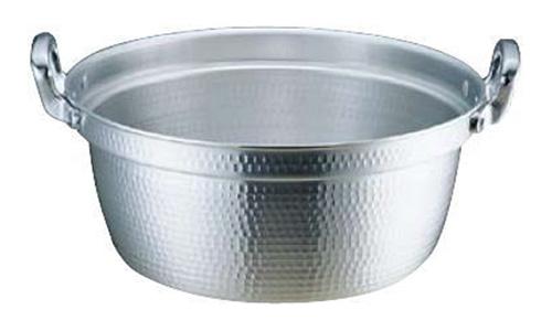 約63L サイズ:内径600mm×深さ280mm 60cm 板厚3.3mm※お取寄商品 アルミ打出料理鍋DON