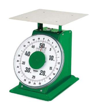 上皿 自動はかり 特大型 平皿付 SD-50 50kg[目量200g] サイズ:皿303mm×303mm 目盛板外径φ261mm ※お取寄商品