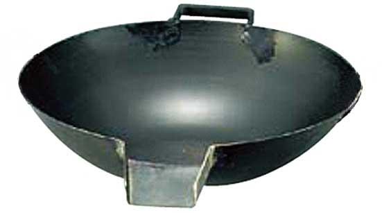 山田工業所 山田の鉄口付打出中華鍋 57cm 板厚2.3mm ※お取寄商品