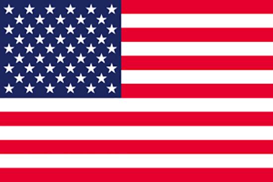 22820 国旗 アメリカ No.2 素材:トロピカル サイズ:W1350mm×H900mm ※お取寄商品
