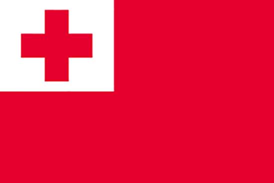 23252 国旗 トンガ No.2 素材:トロピカル サイズ:W1350mm×H900mm ※お取寄商品