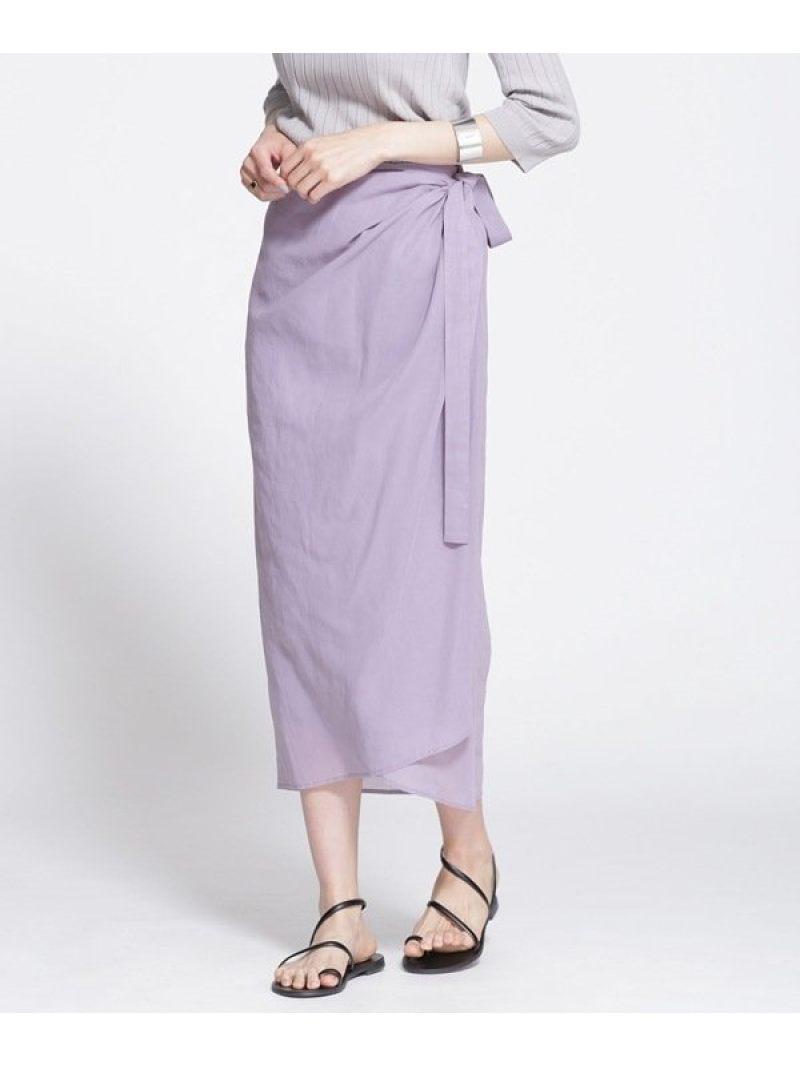 [Rakuten Fashion]【SALE/20%OFF】コットンオーガンラップスカート nano・universe ナノユニバース スカート スカートその他 パープル ネイビー【RBA_E】【送料無料】