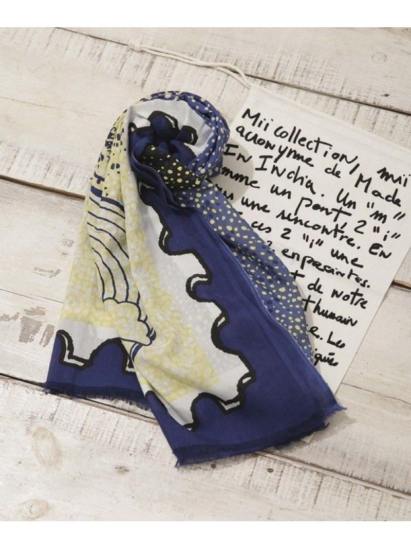 [Rakuten BRAND AVENUE]SEA Stamp スカーフ mii ナノユニバース ファッショングッズ【送料無料】