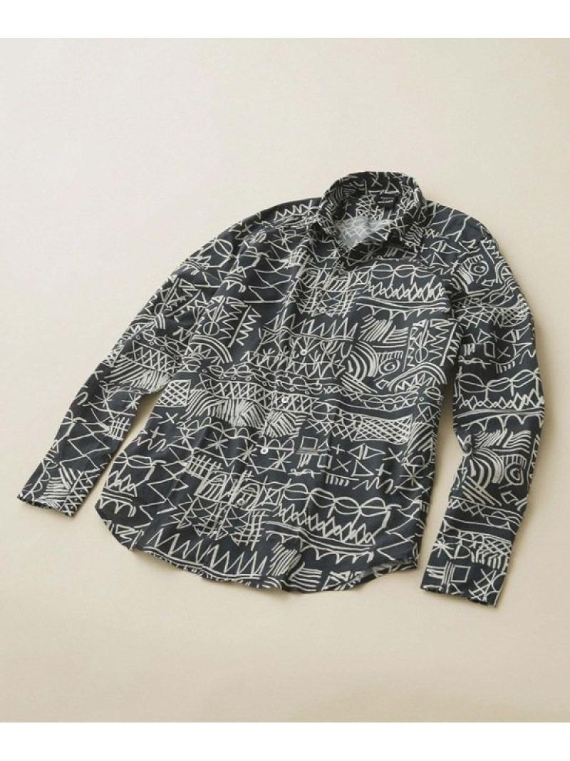 [Rakuten Fashion]【SALE/30%OFF】プリントオープンカラーシャツパターン BAGUTTA ナノユニバース シャツ/ブラウス シャツ/ブラウスその他 ブラック【RBA_E】【送料無料】