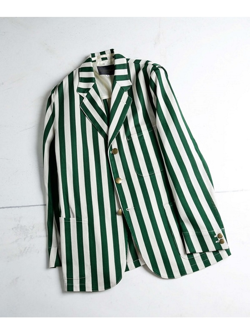[Rakuten BRAND AVENUE]【SALE/50%OFF】Regatta Stripe JKT HAVERSACK ナノユニバース コート/ジャケット【RBA_S】【RBA_E】【送料無料】
