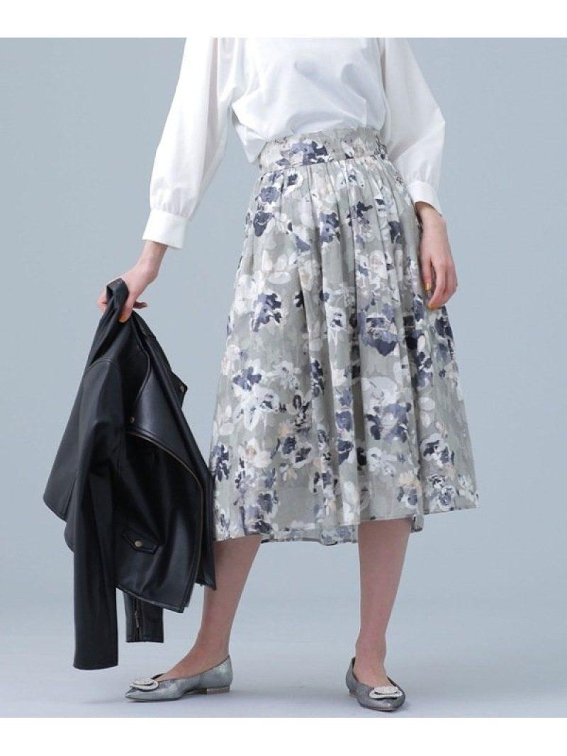 [Rakuten BRAND AVENUE]カットジャカードプリントスカート nano・universe ナノユニバース スカート【RBA_S】【送料無料】