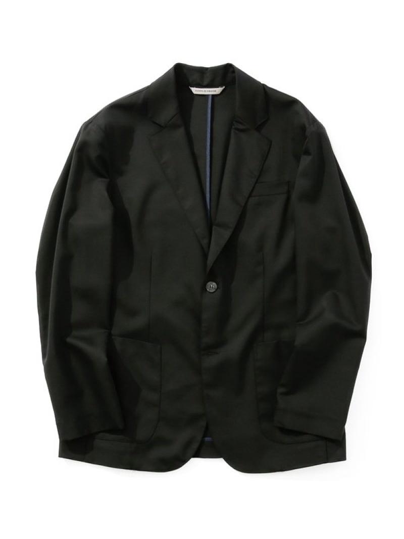 [Rakuten Fashion]【SALE/30%OFF】SHAKAWOOL2Bジャケット giab's archivio ナノユニバース コート/ジャケット テーラードジャケット ブラック グレー【RBA_E】【送料無料】