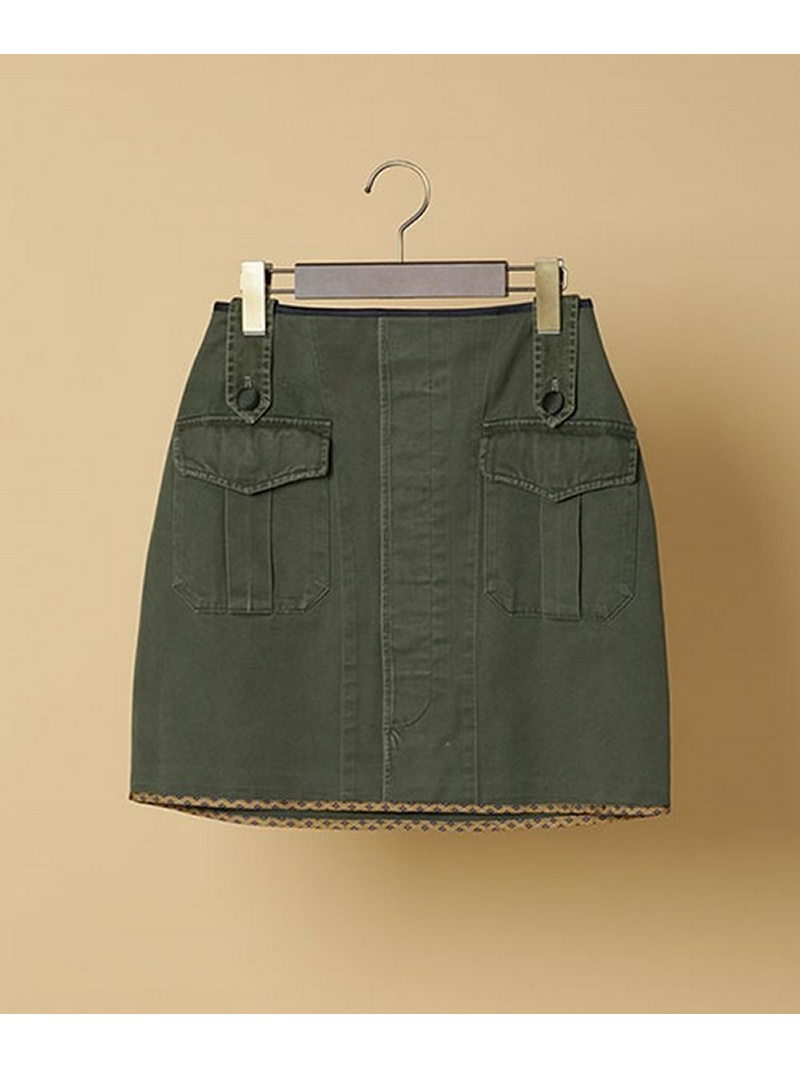 [Rakuten BRAND AVENUE]【SALE/40%OFF】OD Mini Skirt HARVEY FARCLOTH ナノユニバース スカート【RBA_S】【RBA_E】【送料無料】