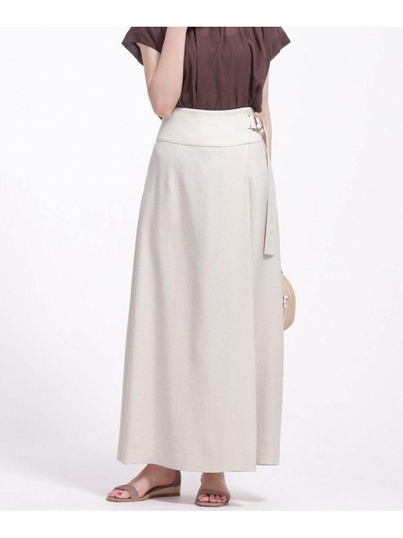 [Rakuten Fashion]ラップ風タックマキシスカート nano・universe ナノユニバース スカート スカートその他 ベージュ グリーン【先行予約】*【送料無料】