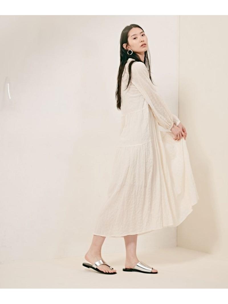 [Rakuten Fashion]nano・universe×HinanoYoshikawaシャツワンピース nano・universe ナノユニバース ワンピース ワンピースその他 ホワイト パープル グレー【先行予約】*【送料無料】
