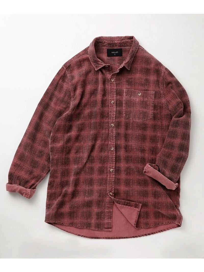 [Rakuten BRAND AVENUE]【SALE/10%OFF】Men At Work Cord Shirt ROLLA'S ナノユニバース シャツ/ブラウス【RBA_S】【RBA_E】【送料無料】