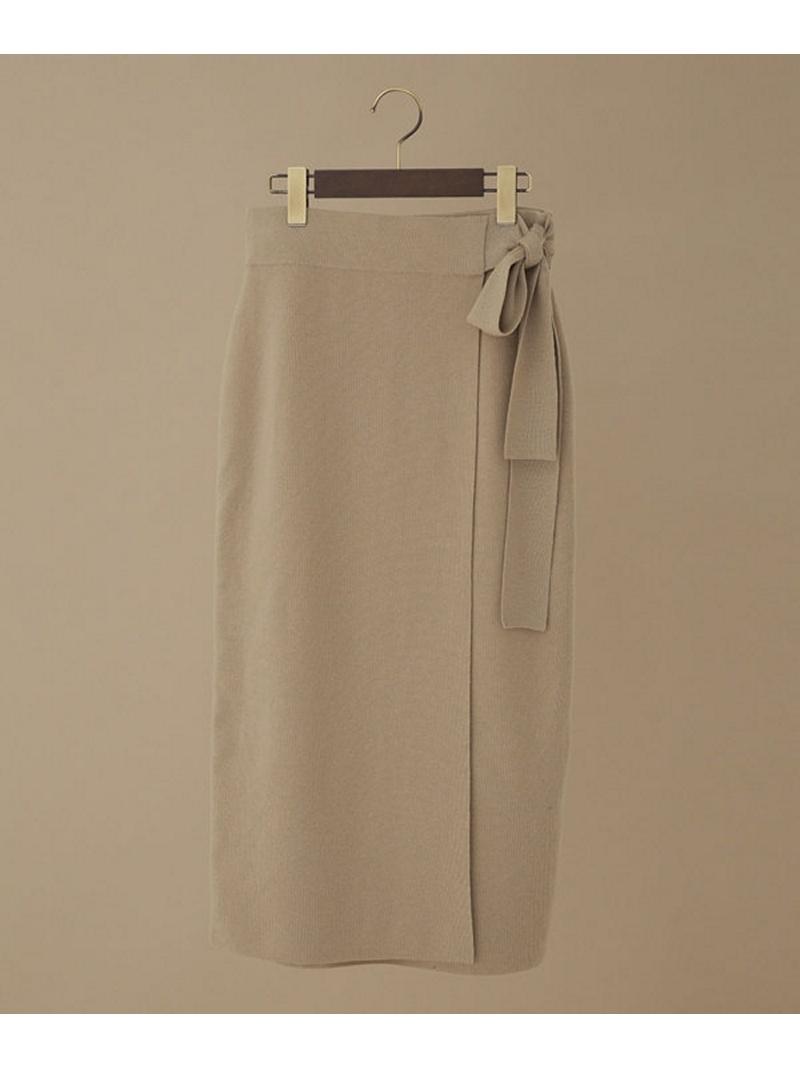 [Rakuten BRAND AVENUE]ラップ風総針ニットスカート nano・universe ナノユニバース スカート【送料無料】