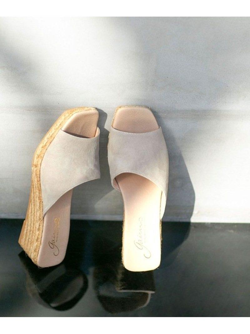 [Rakuten Fashion]【SALE/20%OFF】アシメスクエアウェッジサンダル GAIMO ナノユニバース シューズ サンダル/ミュール グレー イエロー カーキ【RBA_E】【送料無料】