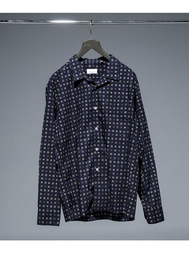 [Rakuten BRAND AVENUE]別注 プリントオープンカラーシャツ giannetto ナノユニバース シャツ/ブラウス【送料無料】
