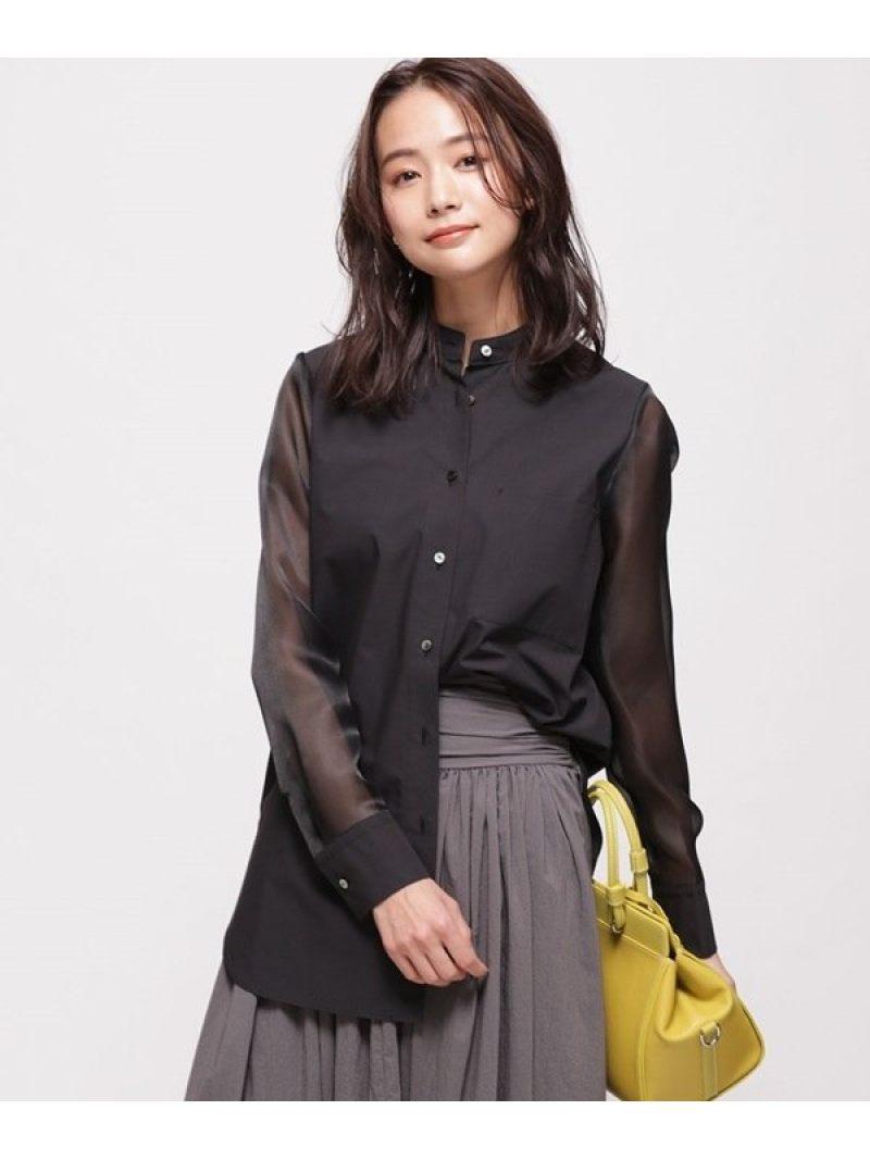 [Rakuten Fashion]【SALE/30%OFF】オーガンジースリーブシャツ nano・universe ナノユニバース シャツ/ブラウス シャツ/ブラウスその他 ブラック ホワイト【RBA_E】【送料無料】