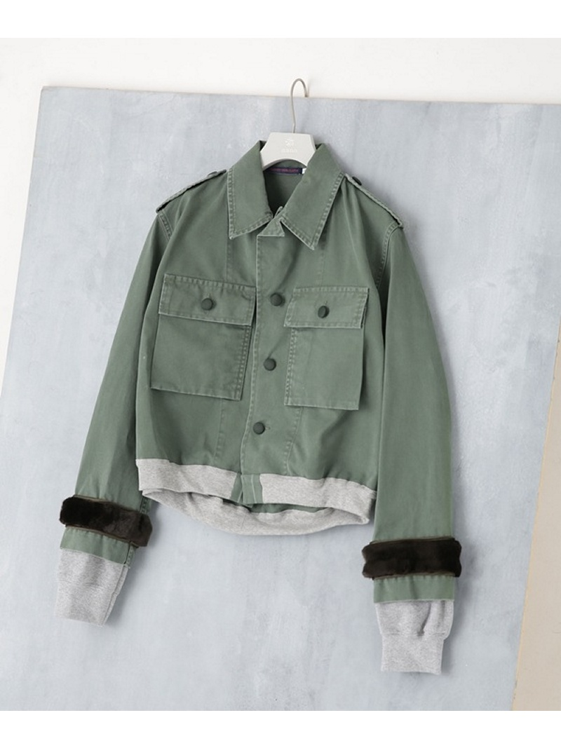 [Rakuten BRAND AVENUE]【SALE/20%OFF】Cropped Bomber HARVEY FARCLOTH ナノユニバース コート/ジャケット【RBA_S】【RBA_E】【送料無料】