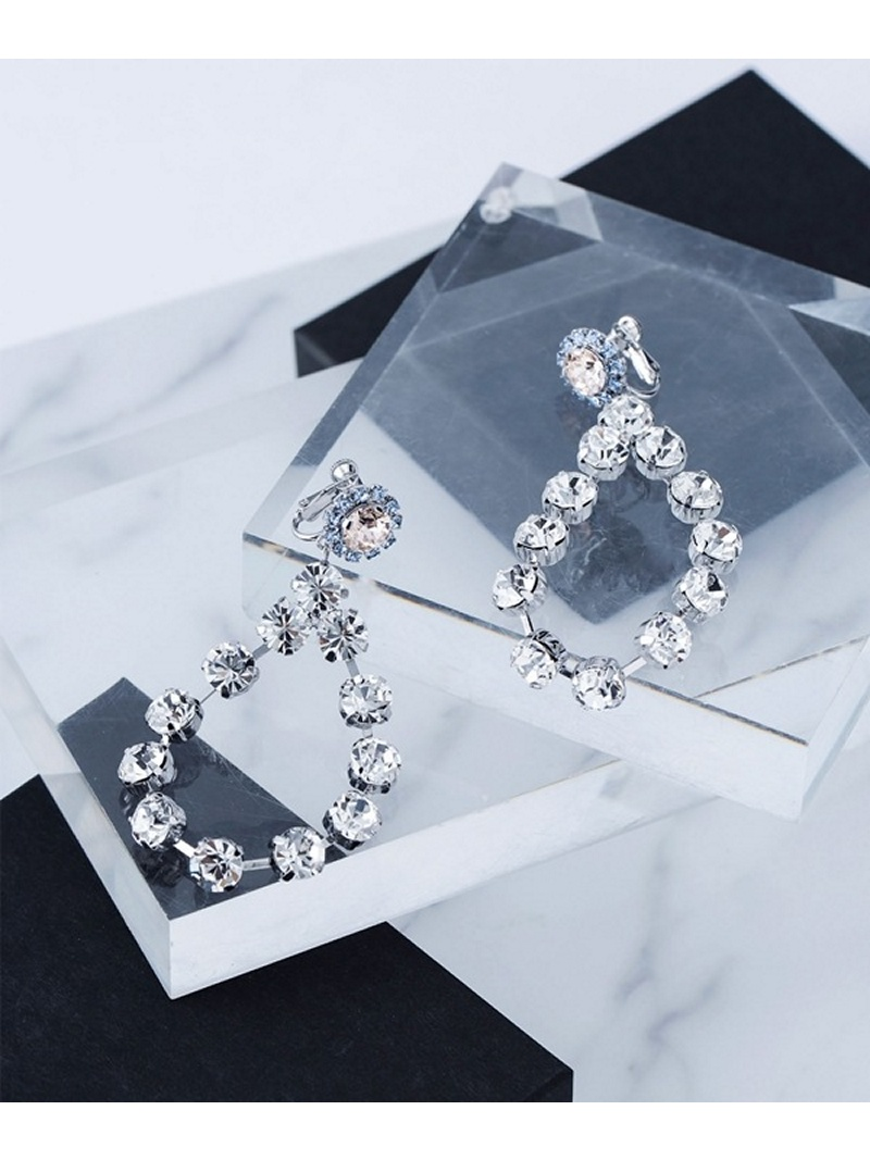 [Rakuten BRAND AVENUE]【SALE/30%OFF】Crystal Flower Earring Bijou R.I ナノユニバース アクセサリー【RBA_S】【RBA_E】【送料無料】