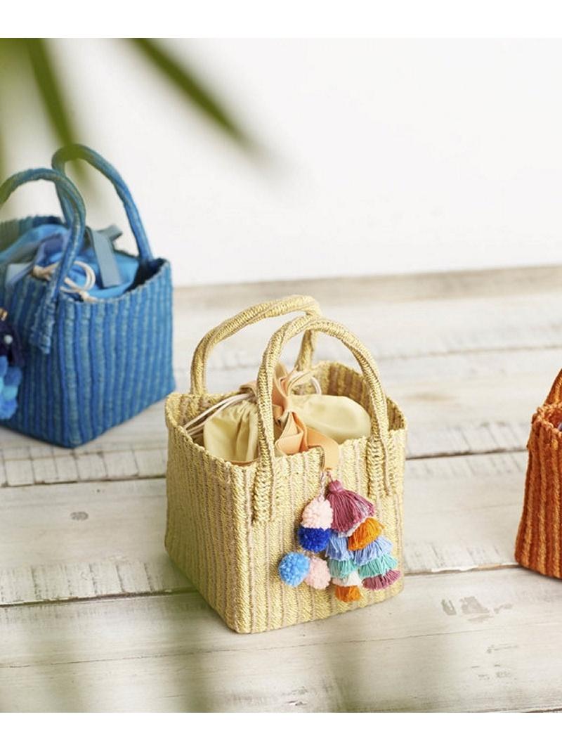 [Rakuten BRAND AVENUE]Pompon basket bag Liberty Bell ナノユニバース バッグ【RBA_S】【送料無料】