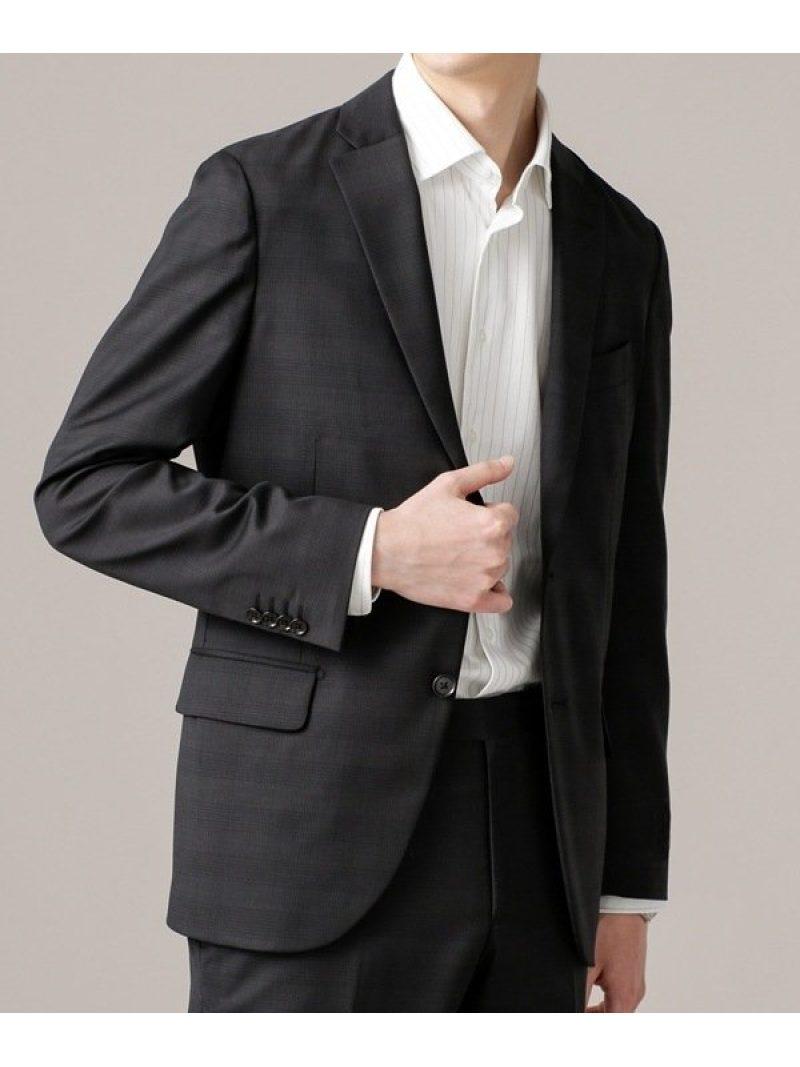 [Rakuten Fashion]【SALE/50%OFF】イタリア生地チェック柄ジャケットSL nano・universe ナノユニバース コート/ジャケット テーラードジャケット ブラック ネイビー【RBA_E】【送料無料】
