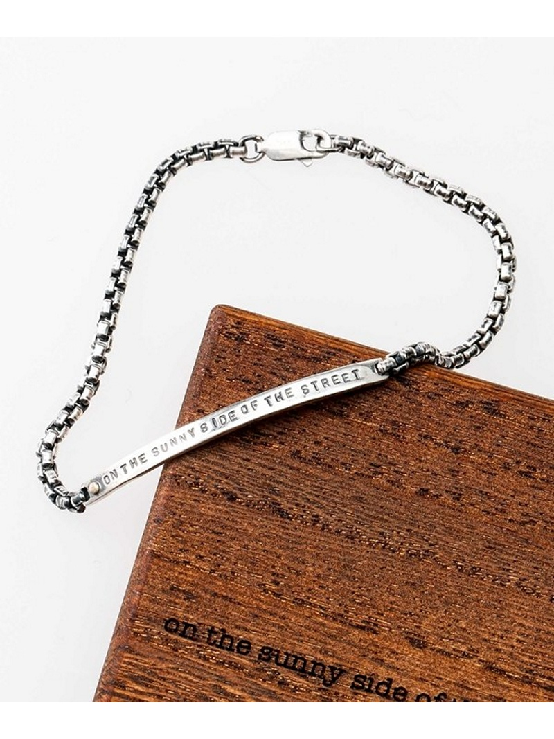 [Rakuten BRAND AVENUE]別注 Stamped ID Bracelet on the sunny side of ナノユニバース アクセサリー【送料無料】
