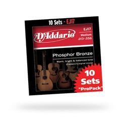 Daddario ダダリオ ダダリオ アコースティックギター弦マルチパック EJ17-10P (EJ17の10セットパック) 仕入先在庫品