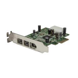 StarTech.com ロープロファイル対応FireWire x3増設PCIeカード PEX1394B3LP 目安在庫=△