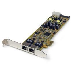StarTech.com 2ポートGbE増設PCIe LANカード PoE/PSE対応 ST2000PEXPSE 目安在庫=○