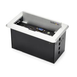 StarTech.com 会議用テーブルAVコネクティビティBOX 充電用USBポート BOX4HDECP2 目安在庫=△