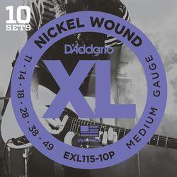 Daddario ダダリオ ダダリオ ギター弦マルチパック EXL115-10P 1ケース 仕入先在庫品