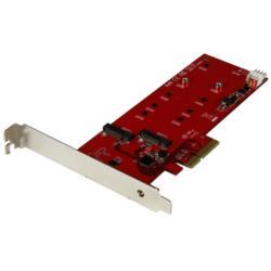 StarTech.com 2x M.2 SSD コントローラカード PCIe接続対応 PEX2M2 目安在庫=△