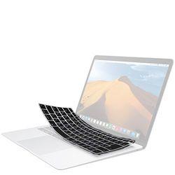 エレコム キーボード防塵カバー MacBookAir13inch/シリコン/半透明/ブラック(PKS-MBAR13CBK) メーカー在庫品