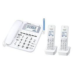パナソニック コードレス電話機(子機2台付き) ホワイト VE-GE10DW-W 目安在庫=△