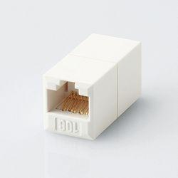エレコム CAT6A対応 コンパクトRJ45延長コネクタ LD-RJ45JJ6AY2 メーカー在庫品