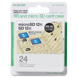 授与 送料無料 カード決済可能 ショップ オブ ザ マンス2021年3月度の都道府県賞を受賞致しました P5E 往復送料無料 ホワイト インデックス台紙 SD12枚+microSD12枚 メモリカードケース メーカー在庫品 CMC-SDCPP24WH エレコム
