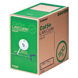 【P5E】エレコム RoHS対応LANケーブル CAT5E 300m ホワイト 簡易パッケージ(LD-CT2/WH300/RS) メーカー在庫品