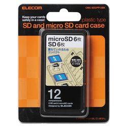 正規認証品!新規格 送料無料 カード決済可能 ショップ オブ ザ マンス2021年3月度の都道府県賞を受賞致しました P5E 驚きの価格が実現 エレコム ブラック メーカー在庫品 インデックス台紙 CMC-SDCPP12BK SD6枚+microSD6枚 メモリカードケース