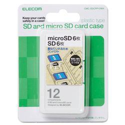 送料無料 カード決済可能 ショップ オブ ザ マンス2021年3月度の都道府県賞を受賞致しました P5E メモリカードケース ショッピング メーカー在庫品 信託 ホワイト エレコム SD6枚+microSD6枚 インデックス台紙 CMC-SDCPP12WH