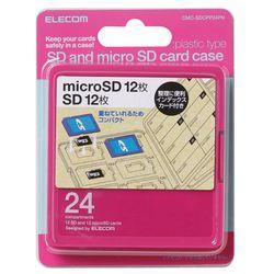 通販 激安 送料無料 カード決済可能 ショップ オブ ザ マンス2021年3月度の都道府県賞を受賞致しました P5E 公式ストア CMC-SDCPP24PN メーカー在庫品 エレコム ピンク SD12枚+microSD12枚 インデックス台紙 メモリカードケース