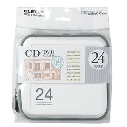 送料無料 カード決済可能 ショップ 無料サンプルOK 格安SALEスタート オブ ザ マンス2021年3月度の都道府県賞を受賞致しました P5E エレコム セミハード CD DVDケース CCD-H24WH ホワイト ファスナー付 24枚入 メーカー在庫品