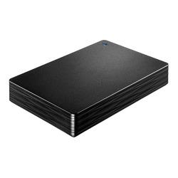 アイ・オー・データ機器 USB 3.1 Gen 1/2.0 ポータブルHDD「カクうす Lite」ブラック 4TB(HDPH-UT4DKR) 目安在庫=○