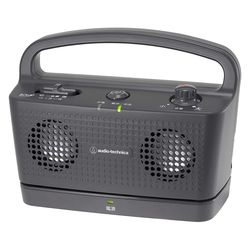 オーディオテクニカ デジタルワイヤレススピーカーシステム お手元テレビスピーカー ブラック(AT-SP767XTV BK) メーカー在庫品
