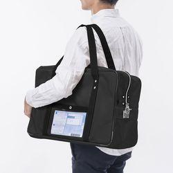 【P5S】サンワサプライ メールボストンバッグ(L) ブラック BAG-MAIL2BK(BAG-MAIL2BK) メーカー在庫品