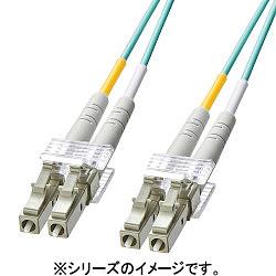サンワサプライ OM3光ファイバケーブル LCコネクタ-LCコネクタ 2m HKB-OM3LCLC-02L メーカー在庫品