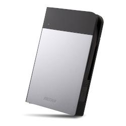 バッファロー HD-PZN1.0U3-S ICカード対応 耐衝撃 ポータブルHDD 1TB シルバー 目安在庫=△